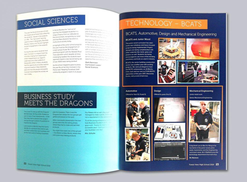 yearbook layout design